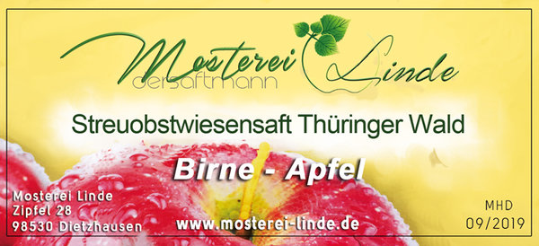 Birne Apfel 5L Bag in Box